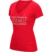 adidas Women's Louisville Cardinals Cardinal Red V-Neck T-Shirt