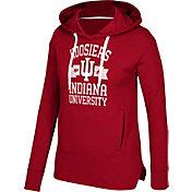 adidas Women's Indiana Hoosiers Crimson Mascot Banner Arch Fleece Hoodie