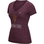 adidas Women's Arizona State Sun Devils Maroon V-Neck T-Shirt