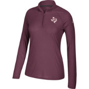 adidas Women's Texas A&M Aggies Maroon Ultimate Quarter-Zip Shirt
