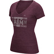 adidas Women's Texas AM Aggies Maroon V-Neck T-Shirt
