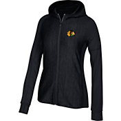 adidas Women's Chicago Blackhawks Logo Black Full-Zip Hoodie