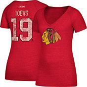 CCM Women's Chicago Blackhawks Jonathan Toews #19 Red T-Shirt