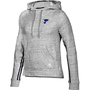 adidas Women's St. Louis Blues Team Stitch Heather Grey Pullover Hoodie