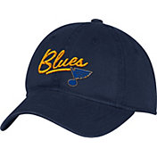 adidas Women's St. Louis Blues Navy Slouch Adjustable Hat