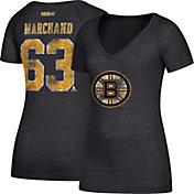 CCM Women's Boston Bruins Brad Marchand #63 Black T-Shirt