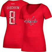 CCM Women's Washington Capitals Alexander Ovechkin #8 Red T-Shirt