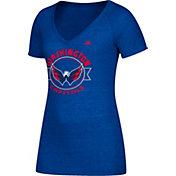 adidas Women's Washington Capitals Banner Dazzle Royal Heathered T-Shirt