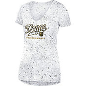 adidas Women's Vegas Golden Knights Script Tail White V-Neck T-Shirt