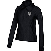 adidas Women's Los Angeles Kings Logo Black Performance Quarter-Zip Pullover