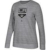 adidas Women's Los Angeles Kings Distressed Logo Heather Grey Sweatshirt