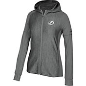 adidas Women's Tampa Bay Lightning Logo Grey Full-Zip Hoodie