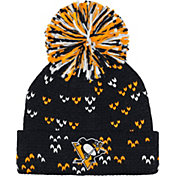 adidas Women's Pittsburgh Penguins Black Cuff Pom Knit Beanie