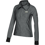 adidas Women's Nashville Predators Logo Grey Performance Quarter-Zip Pullover