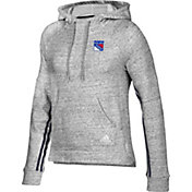 adidas Women's New York Rangers Team Stitch Heather Grey Pullover Hoodie