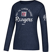 adidas Women's 2018 Winter Classic New York Rangers Arch Navy Long Sleeve Shirt