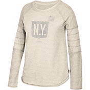 CCM Women's 2018 Winter Classic New York Rangers Raglan Heather Grey Long Sleeve Shirt