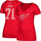 CCM Women's Detroit Red Wings Dylan Larkin #71 Red T-Shirt