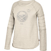 CCM Women's 2018 Winter Classic Buffalo Sabres Raglan Heather Grey Long Sleeve Shirt