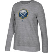 adidas Women's Buffalo Sabres Distressed Logo Heather Grey Sweatshirt