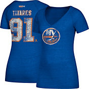 CCM Women's New York Islanders John Taveras #91 Royal T-Shirt