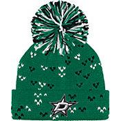 adidas Women's Dallas Stars Green Cuff Pom Knit Beanie