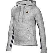 adidas Women's Minnesota Wild Team Stitch Heather Grey Pullover Hoodie