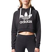 adidas hoodie womens. product image · adidas originals women\u0027s trefoil crop hoodie womens