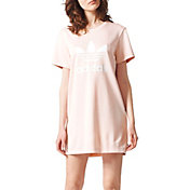 adidas Originals Women's Pink T-Shirt Dress