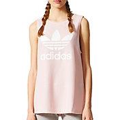 adidas Originals Women's Pink Trefoil Tank Top