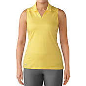 adidas Women's Tonal Stripe Sleeveless Golf Polo