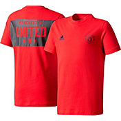 adidas Youth Manchester United Crest Red T-Shirt