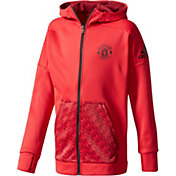 adidas Youth Manchester United Red Hoodie
