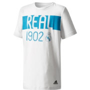 adidas Youth Real Madrid Crest T-Shirt