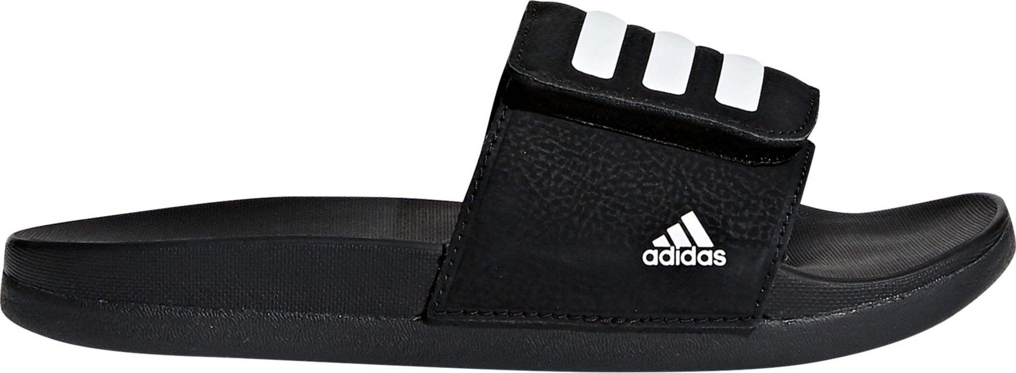 Adidas Kids' Adilette Cloud Foam Plus Adjustable Slides by Adidas