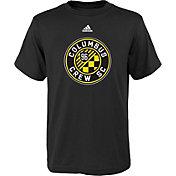 adidas Youth Columbus Crew Big Logo Black T-Shirt