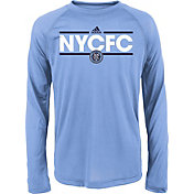 adidas Youth New York City FC Dassler Long Sleeve Light Blue T-Shirt