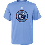adidas Youth New York City FC Big Logo Light Blue T-Shirt
