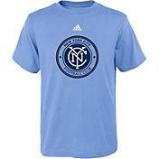 adidas Youth New York City FC Big Logo Light Blue T-Shirt
