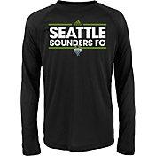 adidas Youth Seattle Sounders Dassler Long Sleeve Black T-Shirt