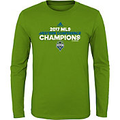 adidas Youth 2017 MLS Western Conference Champions Seattle Sounders Green Long Sleeve Shirt