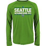 adidas Youth Seattle Sounders Dassler Long Sleeve Green T-Shirt