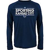 adidas Youth Sporting KC Dassler Long Sleeve Light Blue T-Shirt