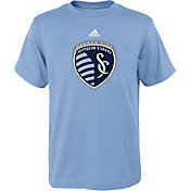 adidas Youth Sporting KC Big Logo Light Blue T-Shirt