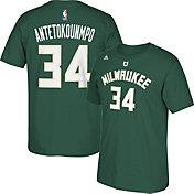 adidas Youth Milwaukee Bucks Giannis Antetokounmpo #34 Green T-Shirt