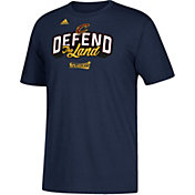 "adidas Youth Cleveland Cavaliers 2017 NBA Playoffs ""Defend The Land"" Navy T-Shirt"