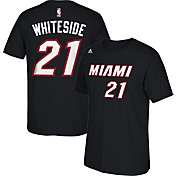 adidas Youth Miami Heat Hassan Whiteside #21 Black T-Shirt