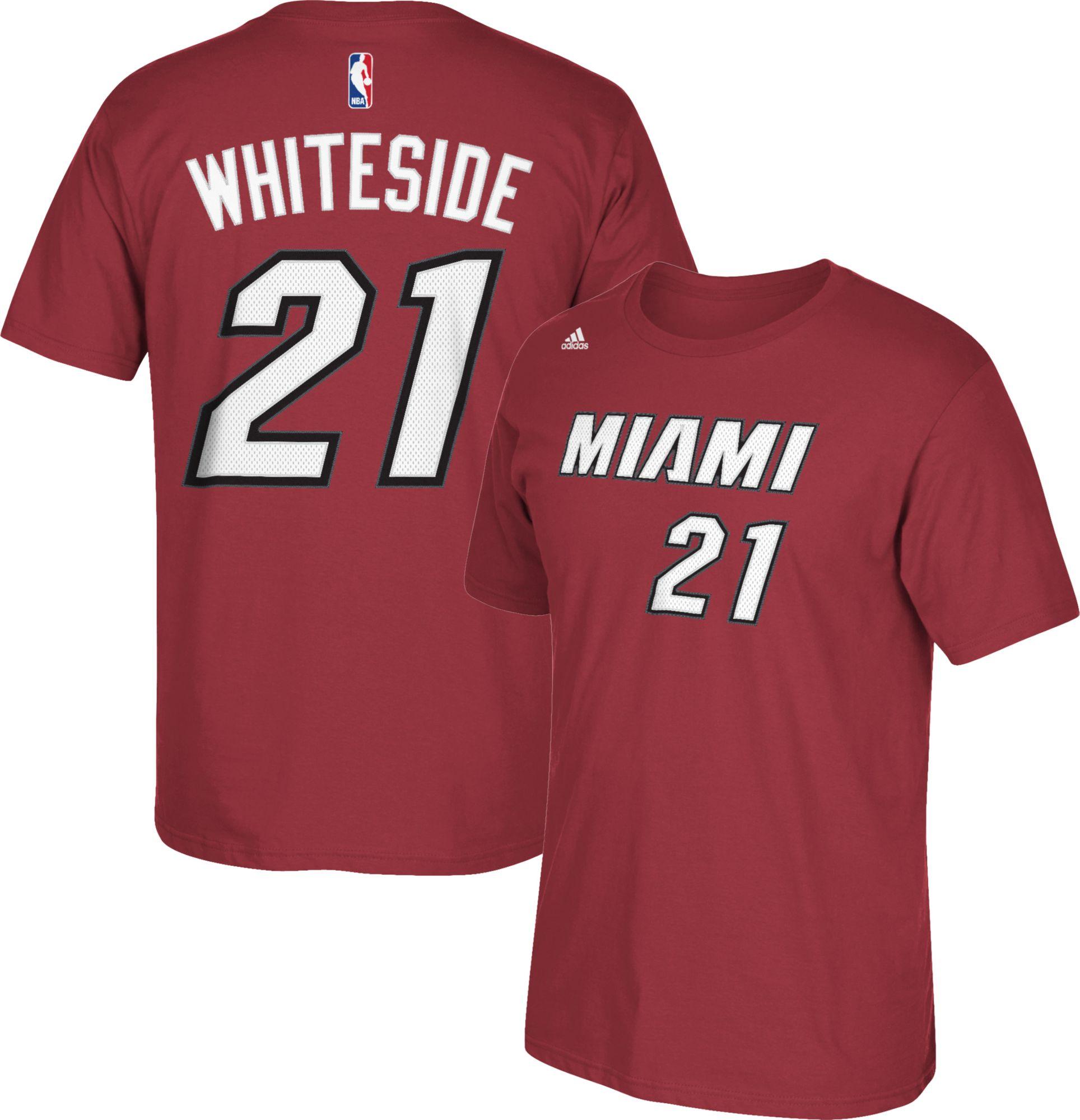 f6dc5b5fbbde ... adidas Youth Miami Heat Hassan Whiteside 21 Burgundy T-Shirt ...