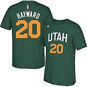 adidas Youth Utah Jazz Gordon Hayward #20 Green T-Shirt