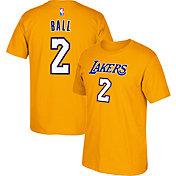adidas Youth Los Angeles Lakers Lonzo Ball #2 Gold T-Shirt